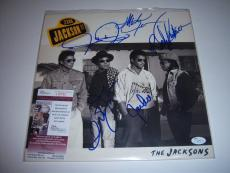 The Jackson Five Jermaine,tito,marlon,jackie,randy Jsa Signed Lp Record Album
