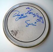 The JaneDare Girls Autographed 10inch Drumhead UACC RD COA AFTAL
