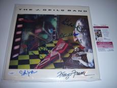 The J.geils Band Freeze Frame 4sigs Jsa/coa Signed Lp Record Album