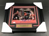 THE KARATE KID COBRA KAI RALPH MACCHIO AUTOGRAPHED CRANE KICK 8x10 PHOTO FRAMED BAS COA