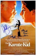The Karate Kid signed 11x17 Movie Poster w/ Ralph Macchio, William Zabka & Martin Kove (entertainment/movie memorabilia)