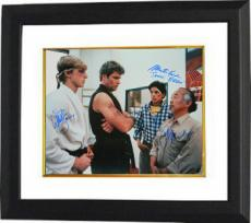 The Karate Kid signed 16X20 Photo Custom Framed w/ Ralph Macchio, William Zabka & Martin Kove (entertainment/movie memorabilia)