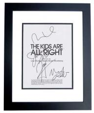 The Kids are all Right Signed - Autographed Script - Guaranteed to pass PSA or JSA by Julianne Moore, Mark Ruffalo, Josh Hutcherson, and Mia Wasikowska BLACK CUSTOM FRAME - Guaranteed to pass PSA or JSA