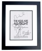 The Kids are all Right Signed - Autographed Script by Julianne Moore, Mark Ruffalo, Josh Hutcherson, and Mia Wasikowska BLACK CUSTOM FRAME - Guaranteed to pass PSA or JSA