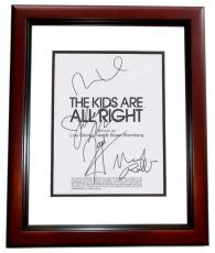 The Kids are all Right Signed - Autographed Script by Julianne Moore, Mark Ruffalo, Josh Hutcherson, and Mia Wasikowska MAHOGANY CUSTOM FRAME - Guaranteed to pass PSA or JSA