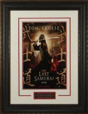 The Last Samurai unsigned 22X30 Masterprint Poster Leather Framed w/ Tom Cruise (entertainment/photo)