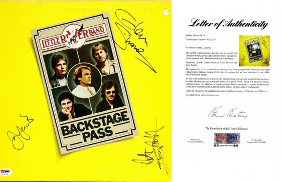 The Little River Band Signed - Autographed Vinyl Album Cover with PSA/DNA FULL Letter of Authenticity signed by Glenn Shorrock