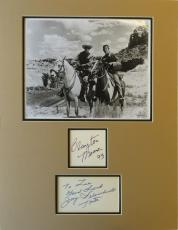 The Lone Ranger Signed Matted Display Clayton Moore/Jay Silverheels PSA/DNA LOA