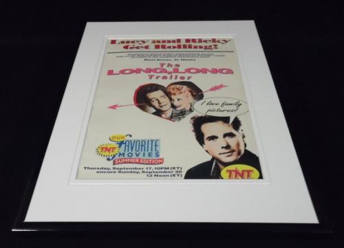 The Long Long Trailer TNT 1992 Framed 11x14 ORIGINAL Advertisement Lucille Ball