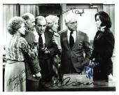 """THE MARY TYLER MOORE SHOW"""" Signed by GEORGIA ENGEL, BETTY WHITE, GAVIN MACLEOD, ED ASNER, and MARY TYLER MOORE 10x8 B/W Photo"""
