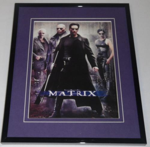 The Matrix Framed 8x10 Repro Poster Display Keanu Reeves
