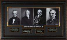 THE MEN WHO BUILT AMERICA Laser Signed Framed Display