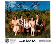 THE MIDDLE HAND SIGNED 8x10 COLOR CAST PHOTO+COA      ALL 5 SIGNED     VERY RARE