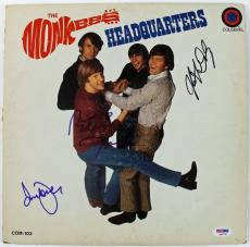 The Monkees (3) Jones Dolenz & Tork Signed Album Cover W/ Vinyl PSA/DNA #Q45791