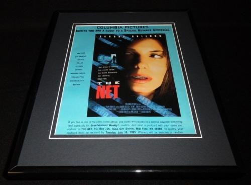 The Net 1995 Framed 11x14 ORIGINAL Vintage Advertisement Sandra Bullock
