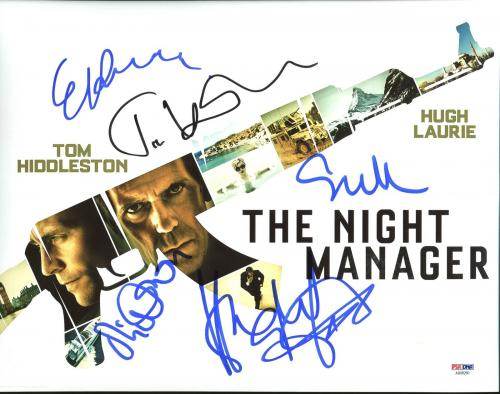 The Night Manager (Tom Hiddleston, Hugh Laurie +3)Signed 11X14 Photo PSA AB08260