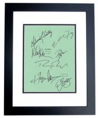 The Nines Autographed Script Cover by Ryan Reynolds, Melissa McCarthy, Elle Fanning, Octavia Spencer, David Denman, Ben Falcone, and Hope Davis BLACK CUSTOM FRAME