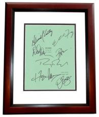 The Nines Autographed Script Cover by Ryan Reynolds, Melissa McCarthy, Elle Fanning, Octavia Spencer, David Denman, Ben Falcone, and Hope Davis MAHOGANY CUSTOM FRAME