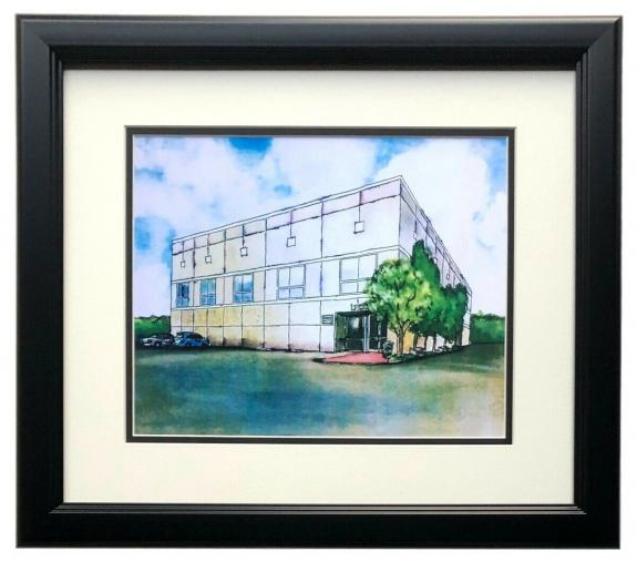 The Office Pam Beasley Dunder Mifflin Watercolor Painting 11x14 Print