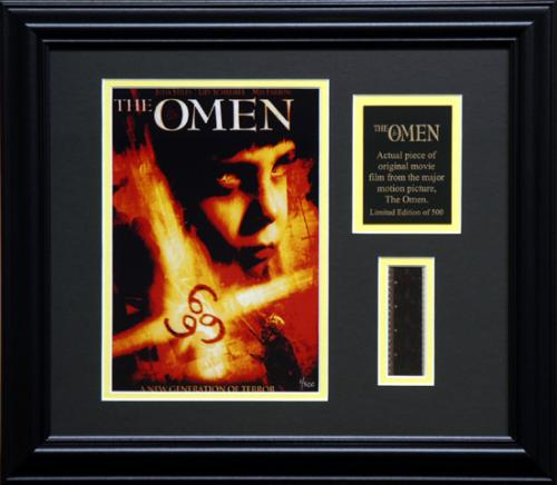 THE OMEN FRAMED PHOTO w/FILM STRIP AND PLATE