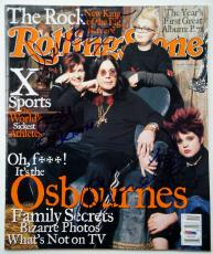 THE OSBOURNES Signed Rolling Stone Mag OZZY OSBOURNE Sharon Kelly Jack PSA/DNA