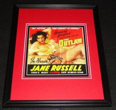 The Outlaw Jane Russell 1943 Framed 11x14 Poster Display Official Repro