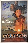 The Outsiders Cast Emilio Estevez Macchio Signed 11x17 Movie Poster Bas Coa Auto