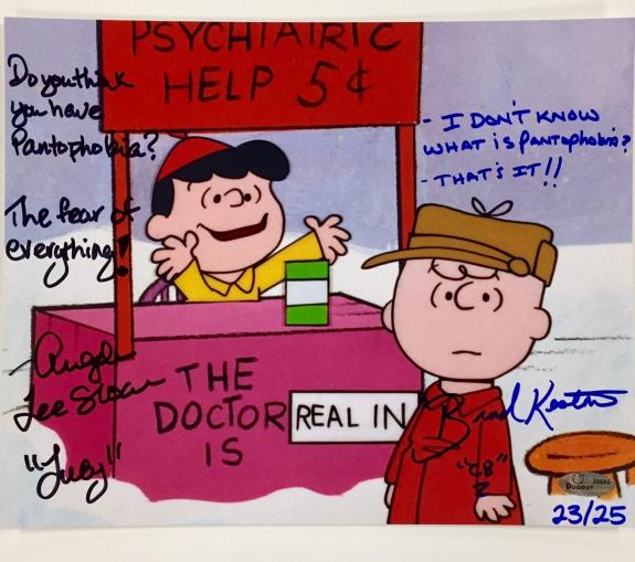 Charlie Brown Signed Photograph - PEANUTS voices LUCY 8x10 LE # /25 ~ OC COA + Hologram