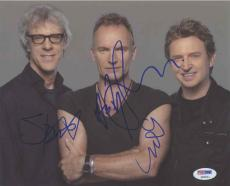 The Police Autographed Signed 8x10 Photo Certified Authentic PSA/DNA LOA