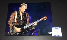 The Police Sexy Sting Signed 11x14 Photo Authentic Autograph Beckett Bas Coa