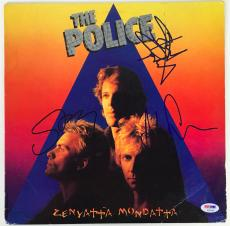 The Police Signed Autographed Zenyatta Album LP Sting Copeland Summers PSA/DNA