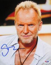 The Police Sting Signed RARE 8x10 Photo PSA/DNA
