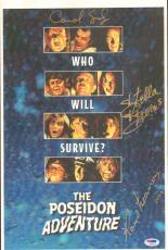Ronald Neame Stella Stevens + Poseidon Adventure Signed 11x17 Poster PSA/DNA COA