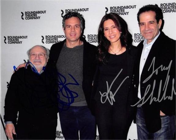 The Price autographed 8x10 photo by Tony Shalhoub Mark Ruffalo Danny Devito Jessica Hecht Broadway Play 2