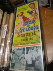 "The Pride of St. Louis 1952 Original Movie Poster ""Dizzy Dean"" framed"