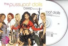 THE PUSSYCAT DOLLS signed *BEEP* CD Booklet W/COA