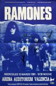 The Ramones (4) Johnny, Joey, C.J. & Marky Signed 14x21 1991 Concert Poster BAS