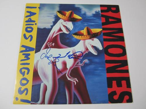 The Ramones Adios Amigos! 1995 signed vinyl record album JSA COA