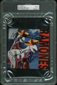 The Ramones -Joey, CJ, Marky & Johnny Signed CD Cover Autos Graded 9 PSA Slabbed