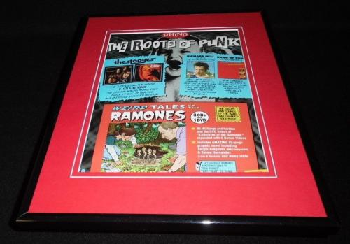 The Ramones / The Stooges 2005 Framed 11x14 ORIGINAL Vintage Advertisement