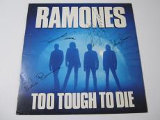 The Ramones Too Tough To Die 1984 signed vinyl record album JSA COA