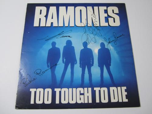 The Ramones Too Tough To Die 1984 signed vinyl record album JSA COA