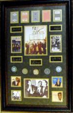 The Rat Pack framed and matted Laser Signatures Las Vegas Casino Chips Playing Cards BLUE 22x34 Frank Sinatra, Dean Martin, Sammy Davis