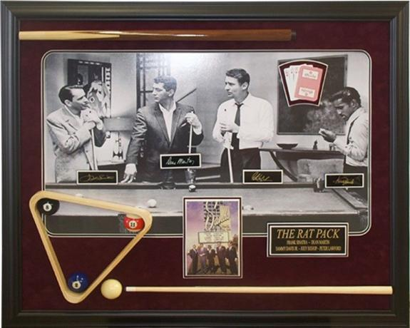 "The Rat Pack"", (Frank Sinatra), Large 3-Dimensional Shadow Box (Las Vegas)"