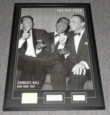 The Rat Pack Signed Framed 29x41 Poster Display PSA/DNA Sinatra Martin Davis