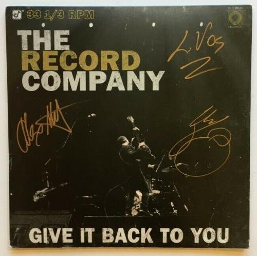 "The Record Company Autographed ""Give It Back to You"" Album   Beckett BAS COA"