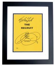 The RECRUIT Signed - Autographed Script Cover by Al Pacino and Colin Farrell BLACK CUSTOM FRAME
