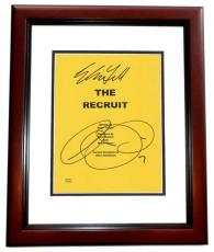 The RECRUIT Autographed Script Cover by Al Pacino and Colin Farrell MAHOGANY CUSTOM FRAME