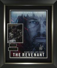 The Revenant DiCaprio and Hardy Signed Display