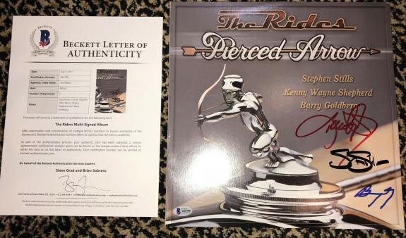 The Riders signed LP record Stephen Stills Kenny Wayne Shepherd Goldberg BAS LOA